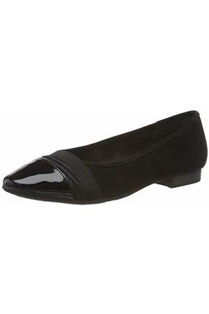 Jana Women's 8-8-22165-23 Closed Toe Ballet Flats, 001