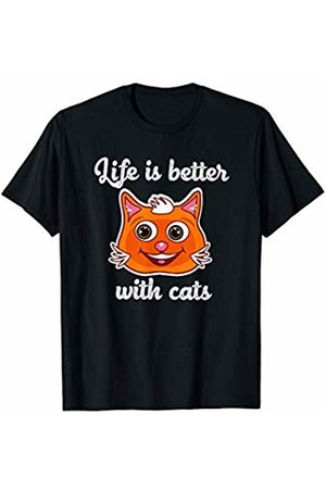 LVGTeam Life is Better with Cats T-Shirt