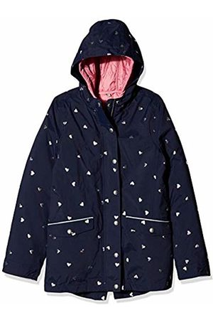 Joules Girl's Parka Coat, Navy Hearts