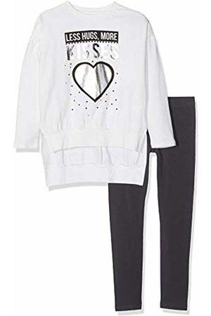 MEK Girl's Completo 2 Pezzi: Top E Leggings Jersey Stretch Clothing Set