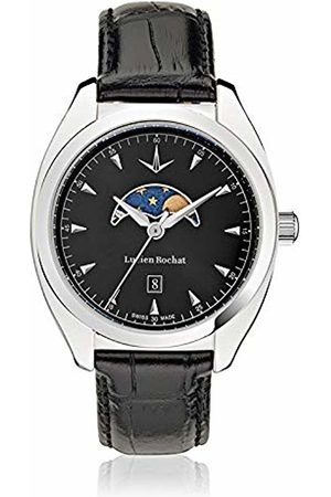 LUCIEN ROCHAT Mens Moon Phase Quartz Watch with Leather Strap R0451110002