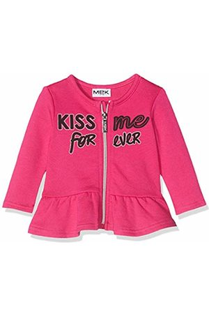 MEK Baby Girls Top Felpa Garzata Con Zip Sports Hoodie