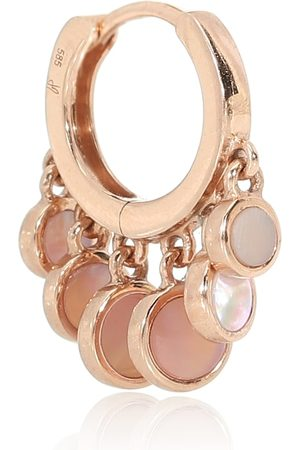 JACQUIE AICHE Women Earrings - Disco Shaker 14kt rose- single hoop earring