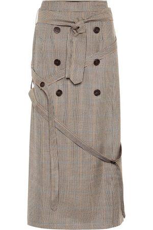 Rokh Houndstooth wool skirt