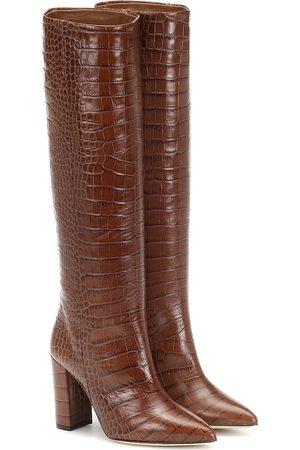 PARIS TEXAS Croc-effect leather boots