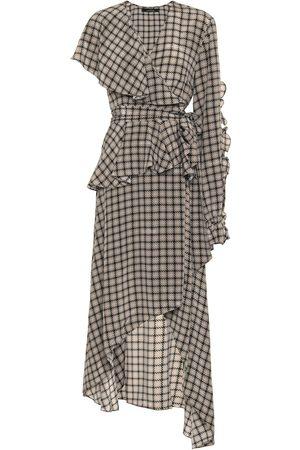 Rokh Houndstooth silk dress