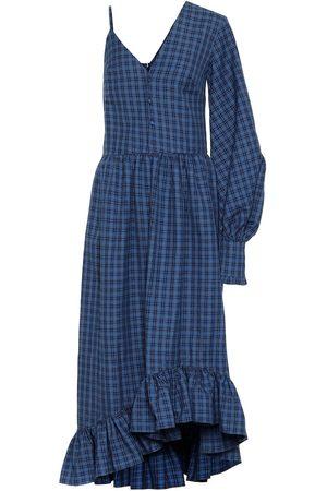 Rokh Checked twill dress