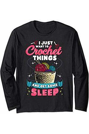 Crochet Yarn Quote Co. Women Long Sleeve - Yarn Quote Crochet Gift For Women Crocheter Funny Crocheting Long Sleeve T-Shirt