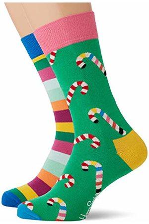 Happy Socks Men's Christmas Cracker Candy Cane Gift Box Socks, ( 730)