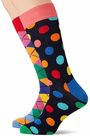 Happy Socks Men's Christmas Cracker Big Dot Gift Box Socks, ( 650)