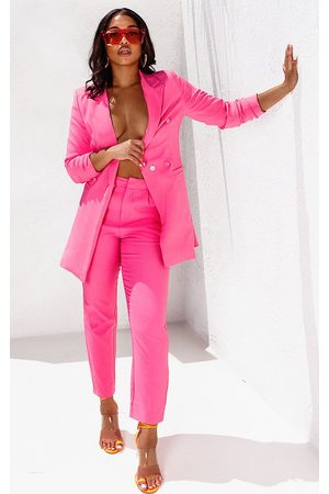 PRETTYLITTLETHING Bubblegum Cropped Trouser