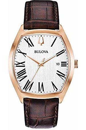 BULOVA Mens Analogue Classic Quartz Watch with Leather Strap 97B173