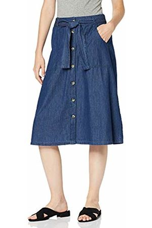 Tom Tailor Women's Geknöpfter Jeans Skirt, Denim 10110