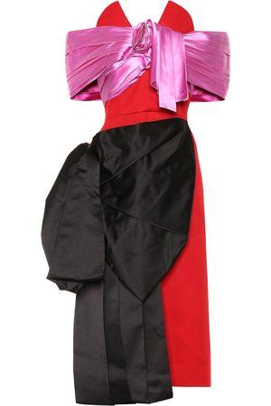 Prada Asymmetric wool and silk dress