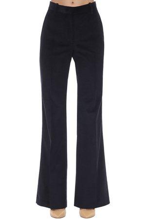 Victoria Beckham High Waist Flared Corduroy Pants