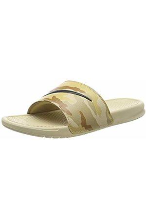 Nike Men's Benassi JDI Print Beach & Pool Shoes, (Desert York/ /Ale /Club /Parachute 203)