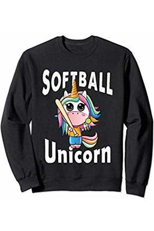 Softball Unicorn Sport Gift Girls Sweatshirt