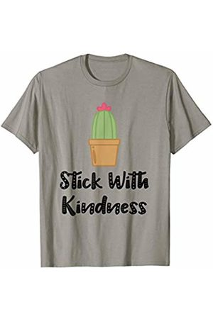 Cactus Lover Teacher Student Life Experience Gifts Stick with Kindness T-Shirt
