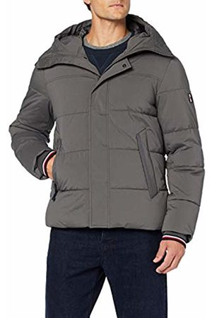 Tommy Hilfiger Men's Stretch Nylon Hooded Bomber Jacket, ((Magnet Pc9)