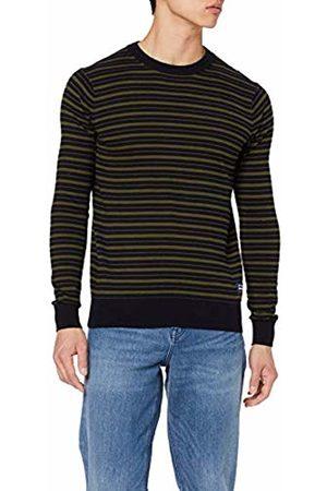 Scotch&Soda Men's Striped Crewneck Pull in Soft Quality Vest
