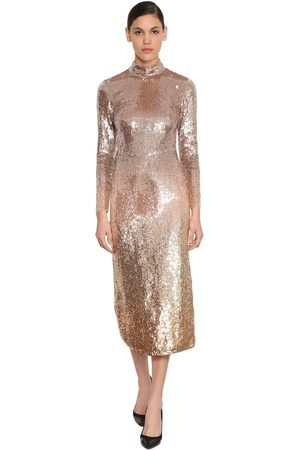 TEMPERLEY LONDON Degradé Sequined Stretch Tulle Dress
