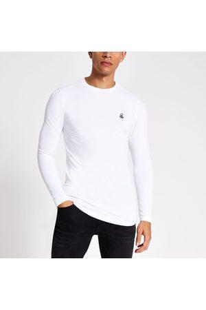 River Island Mens R96 long sleeve T-shirt