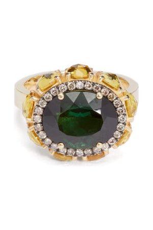 Ileana Makri Eternity Flower Diamond, Sapphire & 18kt Ring - Womens