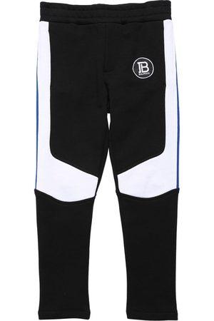Balmain Two Tone Cotton Sweatpants