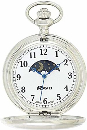 Ravel Mens Moon Phase Quartz Watch with Stainless Steel Strap R1001.14