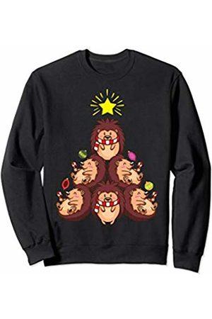 Hedgehog Christmas Sweater.Baby Hedgehog Christmas Tree Gift Shirt Kids Women Sweatshirt