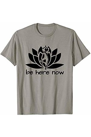 Namaste Yoga Fitness Apparel for Yoga Studio Shop Yoga Be Here Now Fitness Workout Namaste Lotus for Women T-Shirt