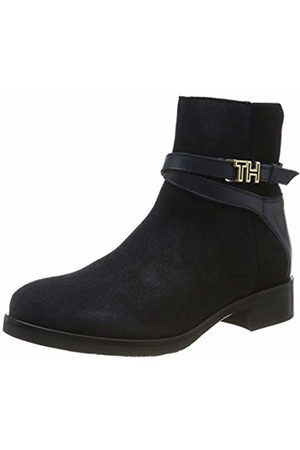 Tommy Hilfiger Women's Th Hardware Suede Flat Bootie Ankle Boots