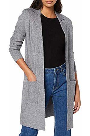 Vero Moda NOS Women's Vmtasty Fullneedle Ls New Coatigan Noos Coat, Medium Melange