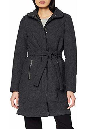 Vero Moda NOS Women's Vmbessy Class 3/4 Wool Jacket Noos Coat, Dark Melange