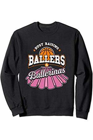 Ballers and Ballerinas Apparel Girls Ballet Wrap Skirt deign with Basketball ball Sweatshirt