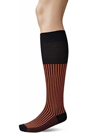 Falke Men's Oxford Stripe knee-high socks, 1 pair, UK size 7-8 (EU 41-42), cotton mix - Vibrant colours, mercerised cotton