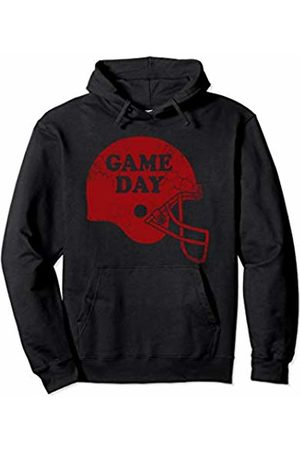 Tee Styley Game Day Football Helmet Red Sports Men Women Kids Gift Pullover Hoodie