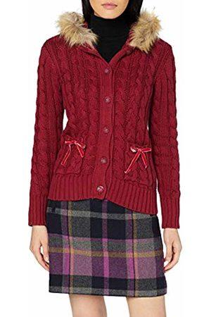 Joe Browns Women's Funky Fur Hood Cardigan (Berry A) A