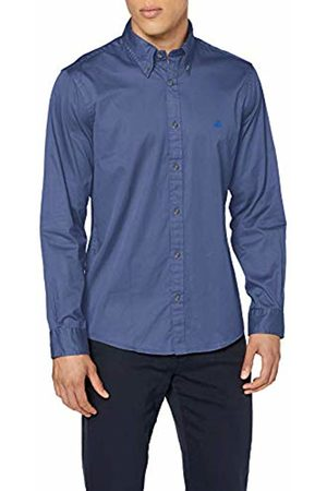 Brooks Brothers Men's Sport Shirt Garment Dye Twill Milano Casual (Dark 405)
