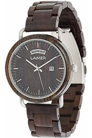Laimer Mens Analogue Quartz Watch with Wood Strap 110