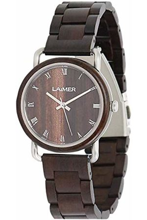 Laimer Womens Analogue Quartz Watch with Wood Strap 113