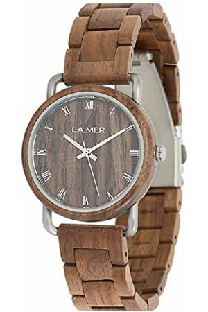 Laimer Womens Analogue Quartz Watch with Wood Strap 115