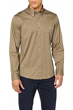 Brooks Brothers Men's Sport Shirt Garment Dye Twill Milano Casual ( 300)