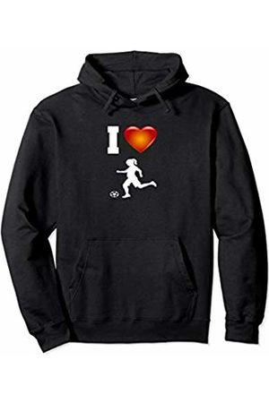 Soccer for Ladies Soccer for Girls Gifts I Love Ladies Soccer I Heart Soccer for Girls Sports Gift Pullover Hoodie