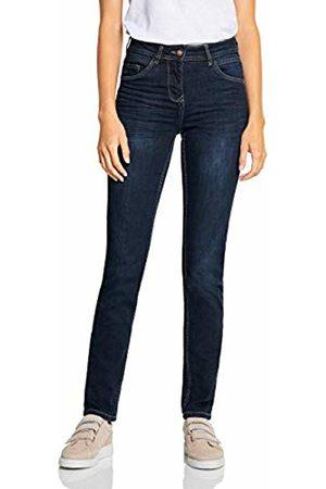 Cecil Women's 372538 Toronto Slim Fit Jeans, (Dark wash 10315)