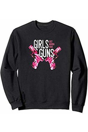 Girls N Guns Shirts by Savvy Scribbler Gear Girls Just Want to Have Guns Pink Camo Shooting Sports Sweatshirt