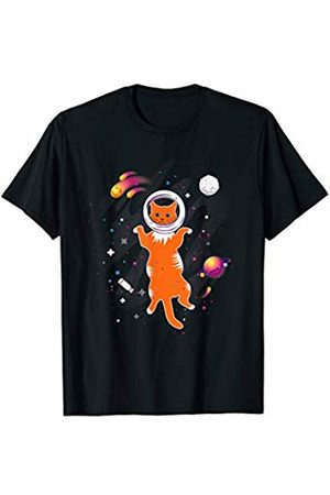 LVGTeam Lone ginger cat in Space T-Shirt