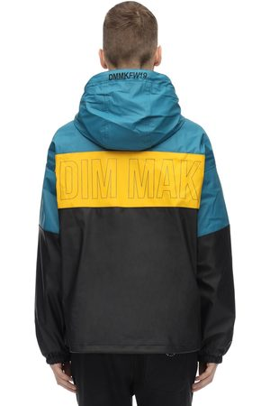 DIM MAK COLLECTION Color Block Rubberized Rain Jacket