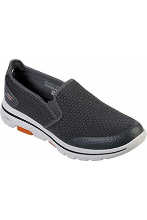 Skechers Men's GO Walk 5-APPRIZE Slip On Trainers, Textile/Synthetic/ Trim Charcoal