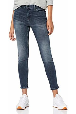 Tommy Hilfiger Women's Mid Rise Skinny Nora 7/8 Dslgy Straight Jeans